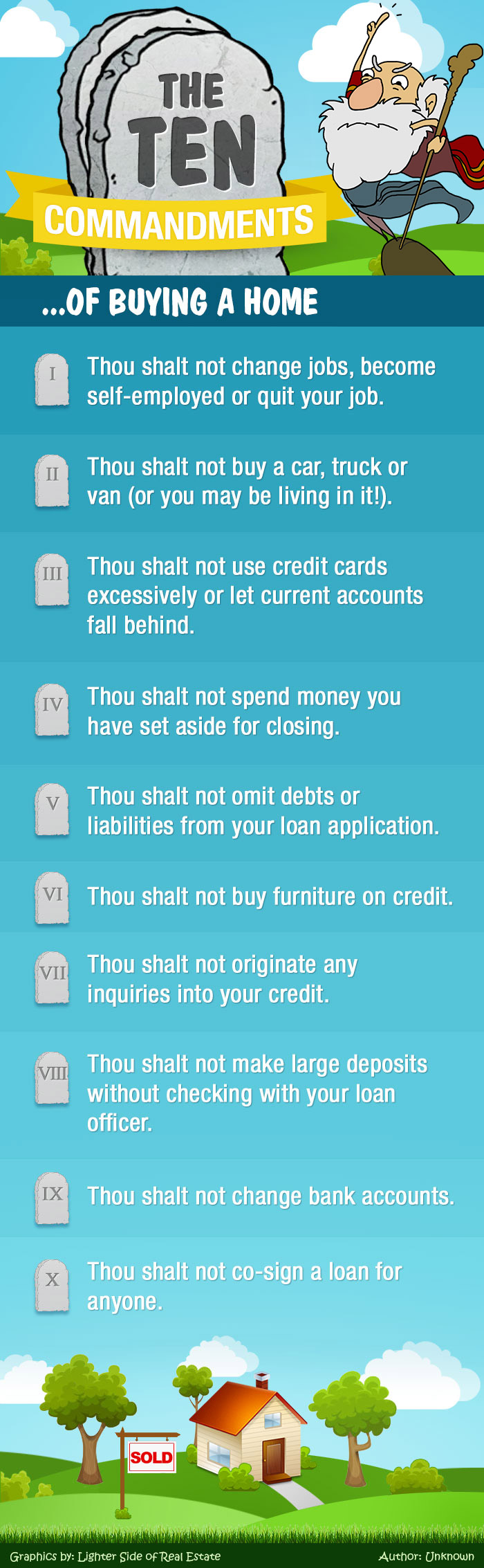 10 commandments of buying a home